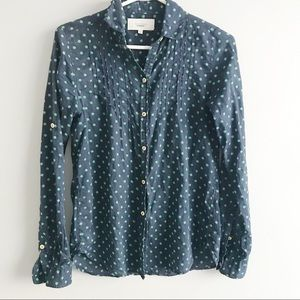 Anthropologie Dotted Button Down